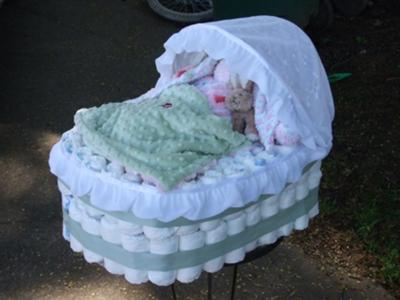 Instructions For Making A Baby Carriage Diaper Cake