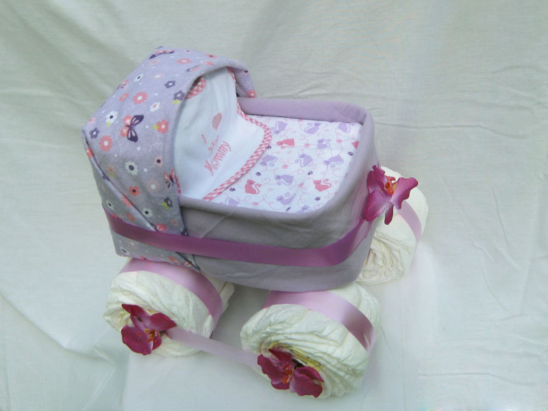 Making A Stroller Diaper Cake